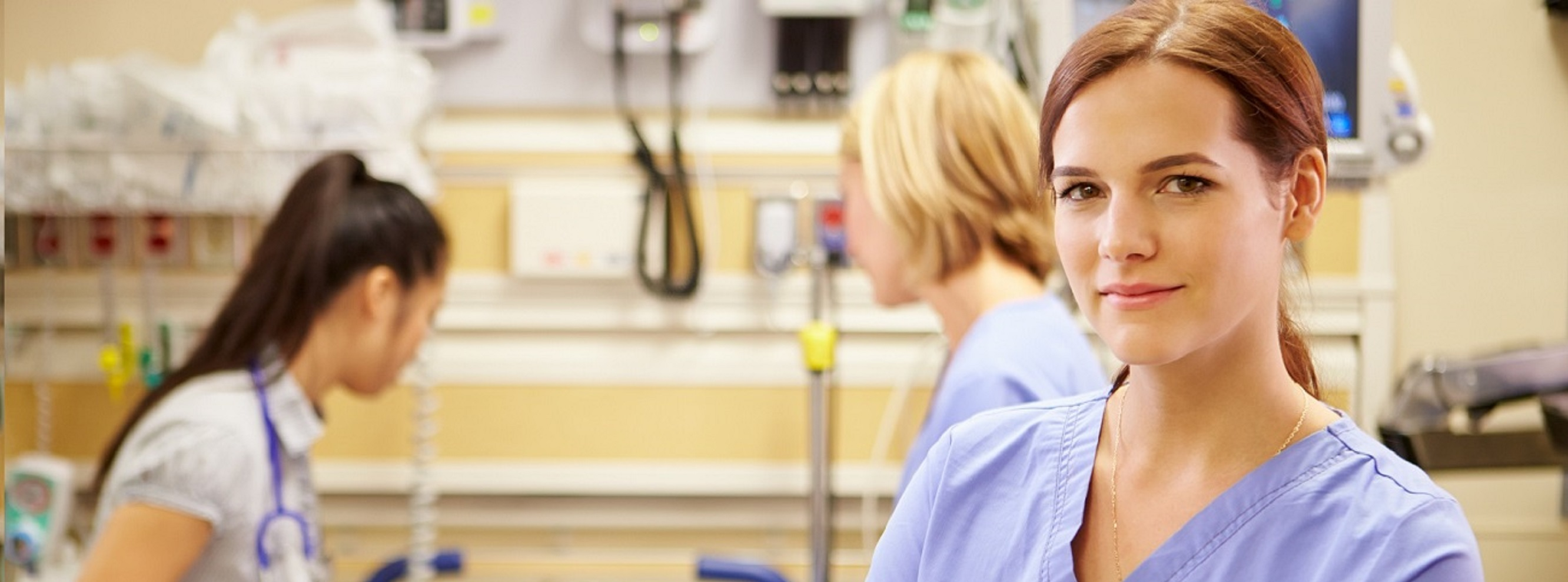shutterstock_168768410_Portrait Of Nurse Working In Emergency Room